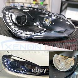 Golf Mk6 Drl Bi Xenon Phares Gtd R20 Gti Black Edition Phares Mise À Niveau Uk
