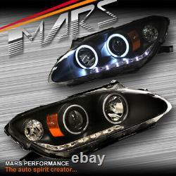 Jdm Black Led Drl - Ccfl Angel Eyes Projecteur Lumières Pour Honda S2000 Ap Ap1