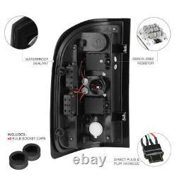 L+r Led Lampe De Signalisation De Queue Noire Pour Chevy 07-14 Silverado Wt/lt/ltz Camion