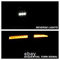 Lampe À Led De Fumée Noire Séquencielle Tail Pour 08-14 Subaru Impreza Wrx Hashback