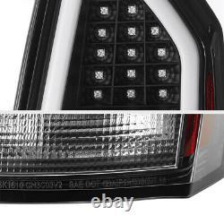 Lampe De Signalisation Noire Tron Style Oled Tube Tail Pour 05-07 Chrysler 300c Srt8