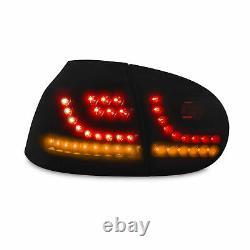 Lampes Arrière De Nouvelle Conception Led Black Dynamic Run Flasher Pour Vw Golf 5