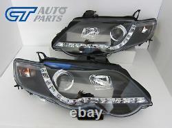 Lampes Phares Led Noir Pour 07-14 Ford Falcon Fg Sedan Fpv Xr6 Xr8