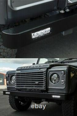 Land Rover Defender Pare-chocs Avant Avec Square Led Daytime Drl Running Lights Kit
