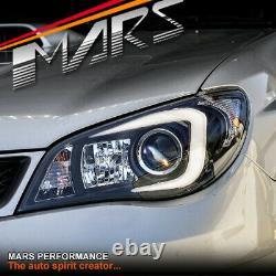 Led 3d Stripe Drl Projecteur Phares Pour Subaru Impreza Gd 05-07 Type Halogène