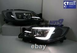 Led 3d Stripe Drl Projecteur Phares Pour Subaru Impreza Wrx 08-13 Hid Type