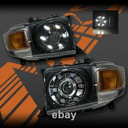 Led Drl Double Faisceau Tête Lumières Pour Toyota Landcruiser 70 Série 2007-20 Fj70 Fj75