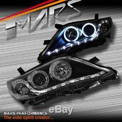 Led Drl Noir & Ccfl Angel Eyes Projecteur Tête Lumières Pour Toyota Camry 10-12