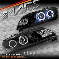 Led Drl Noir Ccfl Angel-eye Projecteur Tête Lumières Pour Mazda 2 Au 7 Juin Hatch Sedan