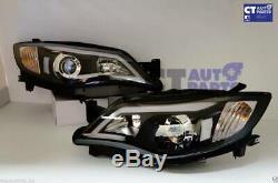 Led Drl Noir Jour À Temps Pour Projecteur Phares 08-13 Subaru Impreza Wrx Sti Rs