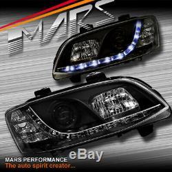 Led Drl Noir Tête Lumières Pour La Série Holden 2 Ve Commodore Ss Sv6 Sv8 Ssv Omega