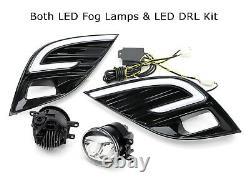 Led Jdm-spec Fog Light Kit Avec Blanc / Orange Led Drl Cadrans 18-20 Camry Se Xse