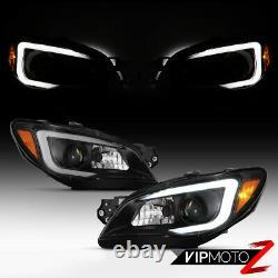 Led Neon Tube Drl Fit 06 Fit 07 Subaru Impreza/wrx Black Projector Headlight