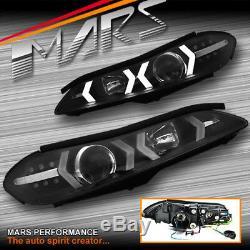 Led Noir 3d Drl Bar Projecteur Feux Avant Et Indicateurs Led Pour Nissan 200sx S15