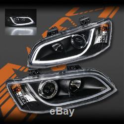 Led Noir 3d Drl Tête Lumières Pour La Série Holden Commodore 2 Ve Sv6 Sv8 Ss-v Omega