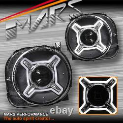 Led X Shape Drl Dual Beam Projector Head Lights For Jeep Renegade Bu 2015-2020