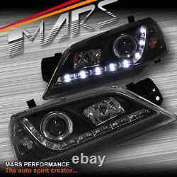 Lumières De Tête De Projecteur Led Noires De Drl Pour Le Projecteur De Ford Territory Sx Sy 04-08 Phare