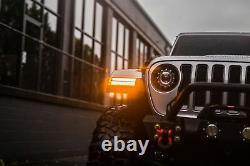 Morimoto Xb Led Drl Et Signaux De Virage Séquentiels Pour 2018+ Jeep Wrangler Jl