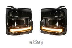 Morimoto Xb Led Plug & Play Black Trim Phares Pour 16-18 Chevy Silverado 1500