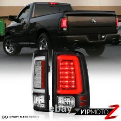 Newest Design Pour 09-18 Dodge Ram 1500 2500 3500 Black Led Tube Tail Light Set
