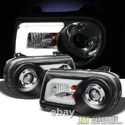 Noir 2005-2010 Chrysler 300c Led Light Bar Drl Projecteur Phares Gauche +droite
