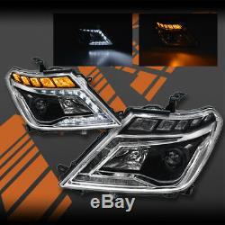 Noir Drl Xenon Hid Sequential Indicateur Tête Lumières Pour Nissan Patrol Y62 12-18