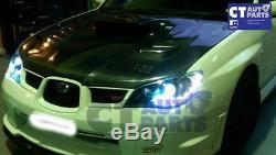Noir Led Drl Projecteur Tête Lumières Pour 05-07 Subaru Impreza Wrx Sti Rx