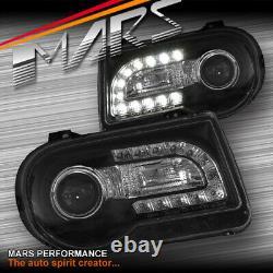 Nouveaux 13 Feux De Tête Noirs De Projecteur De Led Drl Pour Chrysler 300c 05-12
