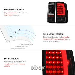 Oled Neon Tube Pour 07-13 Gmc Sierra 1500 2500 3500 Black Led Tail Brake Light