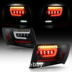 Oled Tube Led Tail Lampe De Signal De Freinage Paire Pour 08-14 Subaru Wrx/sti Sedan