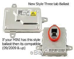 Paire Mini Cooper Black Bi-xenon Projector Light-bar Drl Phares Phares 09-15