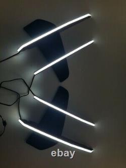 Pare-chocs Drl Led Lampe Légère Matt Black Type Pour 182020 + Kia Stinger 3.3gt Seulement