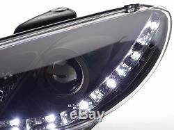 Peugeot 206 Hatch & CC 98-02 Noir Drl Diable Angel Eyes Phares Avant Lumières