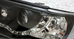 Phares Avant De Finition Noire Avec Led Drl Pour Audi 100 C4 90-94