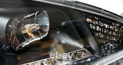 Phares De Finition Clairs Noirs Avec Feux Led Drl De Jour Pour Peugeot 206 206cc