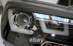 Phares Légers Lightbar Drl Tfl En Finition Noire Pour Vw T5 À Partir De 2009