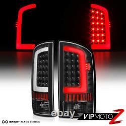 Pour 02-06 Dodge Ram 1500 2500 3500 Black Oled Neon Tube Tail Lumières Paire De Lampes