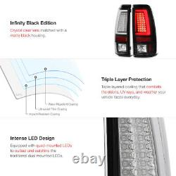 Pour 03-06 Chevy Silverado 1500 2500 3500hd Oled Neon Tube Black Led Tail Light