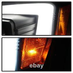 Pour 04-06 Dodge Durango Black Led Neon Tube C-shape Drl Projecteur Phare