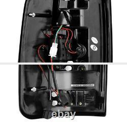 Pour 04-08 Ford F150 Lobo Neon Tube Lampe De Course Full Led Signal Tail Light Black