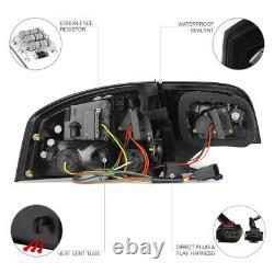 Pour 05-08 Audi A4 S4 Rs4 B7 Berline Black Led Signal Arrière Tail Light 4pc Set