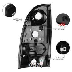 Pour 05-11 Toyota Tacoma Noir Led Drl Strip Halo Phares Feux Arrière De Frein