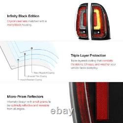 Pour 05-15 Toyota Tacoma Led Bande De Signal De Freinage Lampe Noir Boîtier Tail Lumière