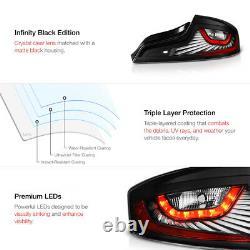 Pour 06-07 Infiniti G35 Coupe Led Tail Light Bar Lampe De Frein De Stationnement Noir