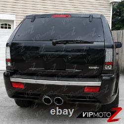 Pour 07-10 Jeep Grand Cherokee Brightest Black Led Smd Rar Brake Tail Light Wk