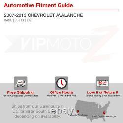 Pour 07-13 Chevy Avalanche Led Black Tail Light Parking Lampe De Frein Arrière Paire L+r