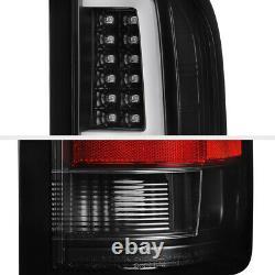 Pour 07-13 Chevy Silverado Verre Clair Led Bar Signal De Frein Lampe Tail Lumière Noir