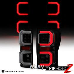 Pour 07-13 Toyota Tundra Black Smoke Dual Led Tube De Neon Lampe De Queue De Frein