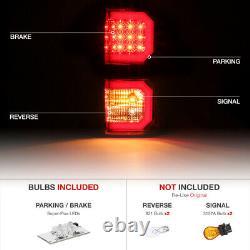 Pour 07-13 Toyota Tundra Black Tail Light Dual Neon U-bar Tube Lampe De Frein Led