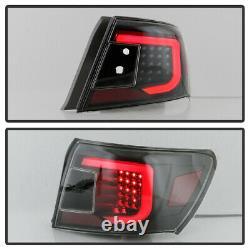 Pour 08-11 Subaru Impreza/wrx 4d Sedan Tube Neon Led Tail Lampe De Frein Léger Black